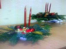 Viazanie Vianočných ikebán